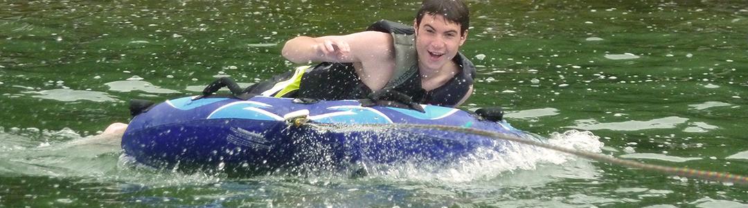 Waterskiing on Long Lake, MI